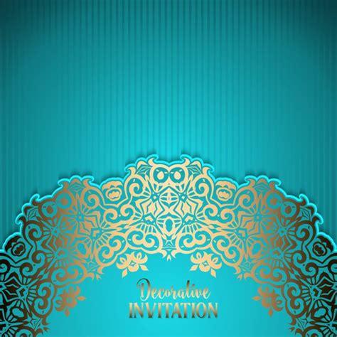 Invitation Backgrounds Ornamental Invitation Background Vector Free