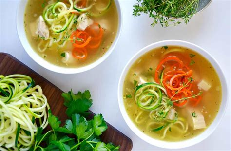 noodle soup recipe zucchini noodle chicken soup just a taste