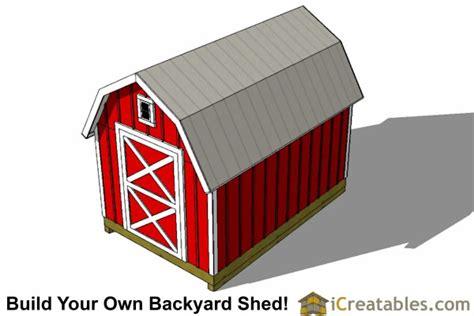 gambrel shed plans icreatablescom
