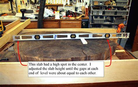 flattening large wood slabs wood workers guild  america