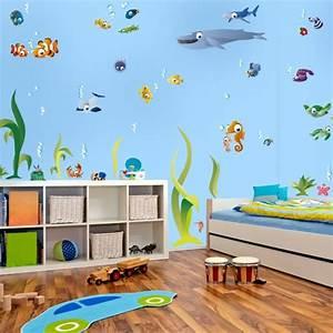 Wandtattoo Unterwasserwelt Kinderzimmer : wandtattoo unterwasserwelt xxl ber 50 teile 200 x 130 cm ~ Sanjose-hotels-ca.com Haus und Dekorationen
