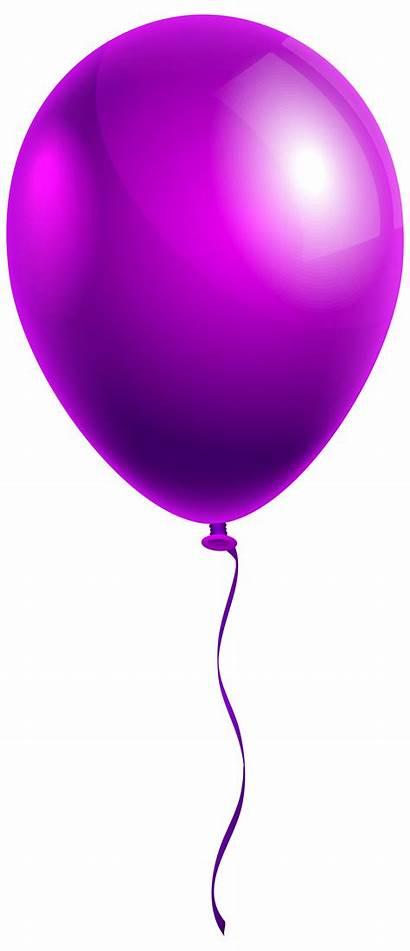 Balloon Balloons Single Clipart Purple Background Transparent