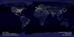 APOD: 2008 October 5 - Earth at Night