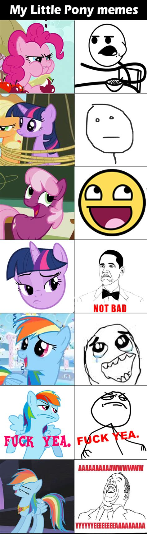 Memes My Little Pony - my little pony memes by dashiedash on deviantart