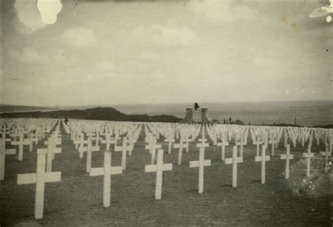 4th Marine Division Cemetery On Iwo Jima, 1945-46