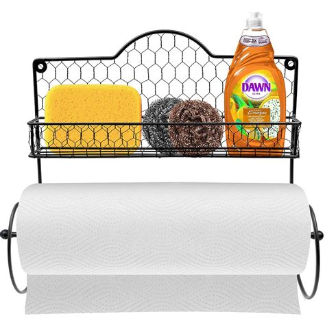 Spice Rack Paper Towel Holder by Paper Towel Holder Spice Rack And Multi Purpose Shelf