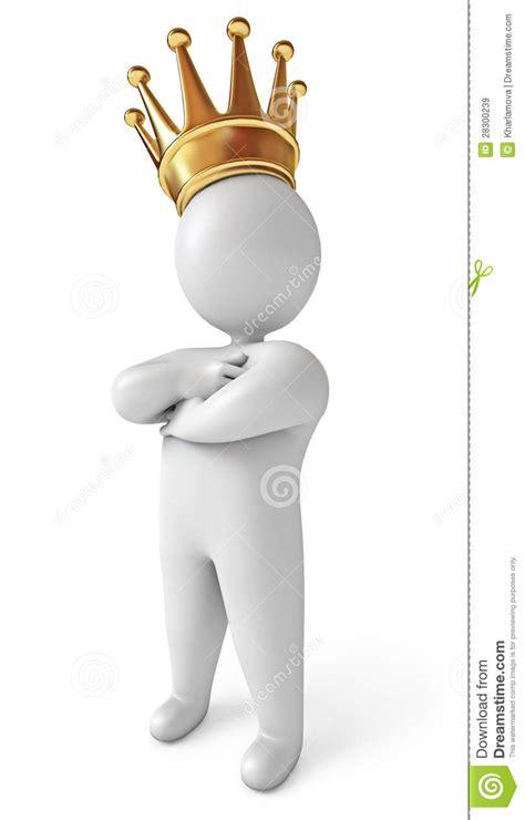 krone mann mann mit krone auf seinem kopf lizenzfreie stockbilder bild 28300239