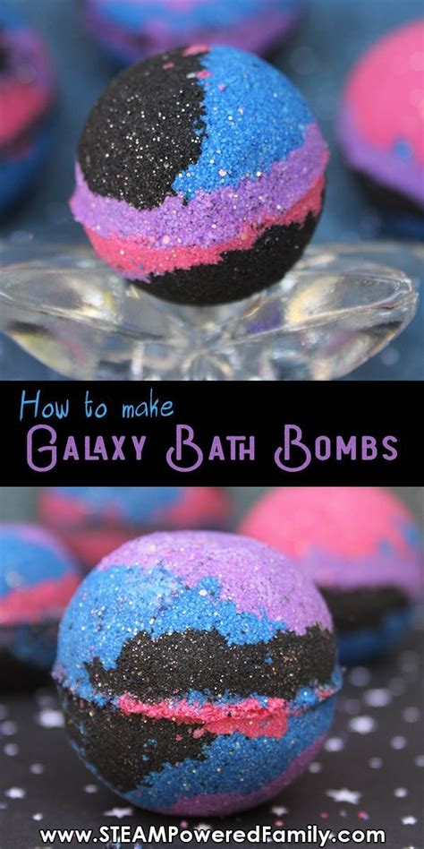 easy galaxy bath bomb recipe  chemistry lesson