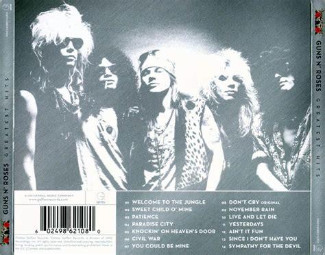 Carátula Trasera De Guns N' Roses