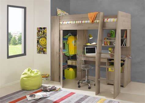 timber loft bunk beds with desk closet gautier gami