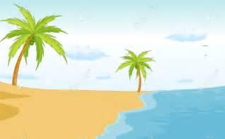 Cartoon Beach Scene Clip Art