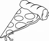 Pizza Pepperoni Clip Slice Clipart Advertisement sketch template