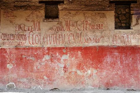 ancient graffiti  pompeii early wall posts