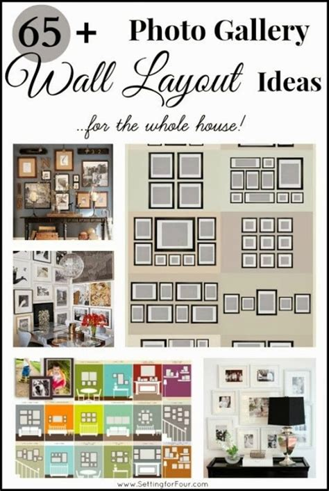 photo gallery wall layout ideas setting