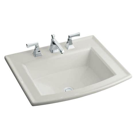 Kohler Archer Dropin Glass Bathroom Sink In Ice Grey With