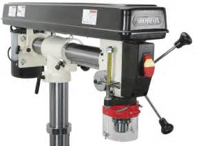 shop fox w1670 1 2 horsepower floor radial drill press