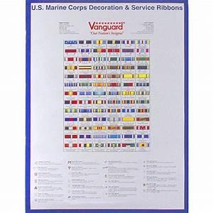 Marine Corps Decoration  U0026 Service Ribbon Poster