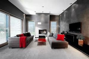 maison particulier contemporain salle de sejour lyon With salle de bain design avec salle de séjour décoration