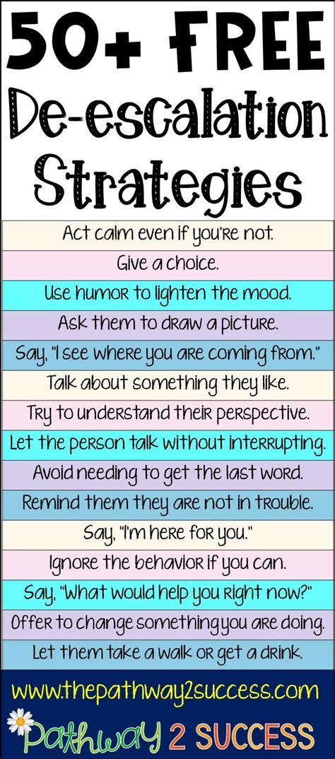 de escalation strategies coping skills behavior