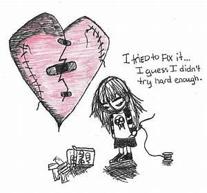 Broken Heart by mooquie on DeviantArt