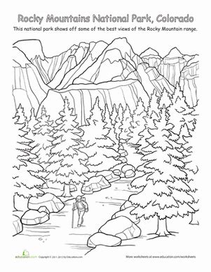 rocky mountains national park worksheet education 460 | rocky mountains national park places