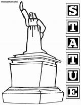 Statue Coloring Pages Colorings Print sketch template