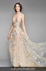 boho bohemian star print stars sheer wedding dress With whimsical plus size wedding dresses