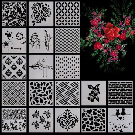 tool wall template wall painting stencil pattern home decor template crafter