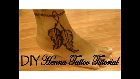 diy henna tattoo tutorial feather ankle bracelet boho