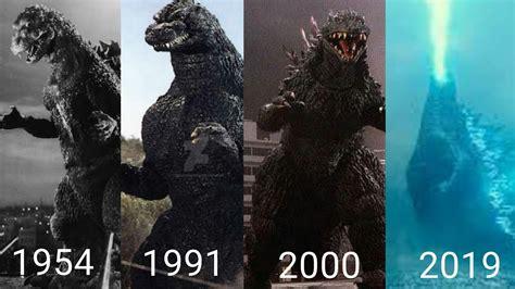 La Evolución De Godzilla 1954-2019