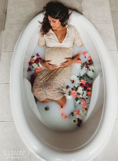 milk bath maternity photo shoot lifetime  clicks