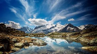 Clouds Swiss Alps Mountain Gifs Rolling Animated