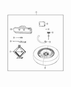 2018 Jeep Renegade Spare Tire Kit Including Tire  Wheel  Jack And Installation Hardware