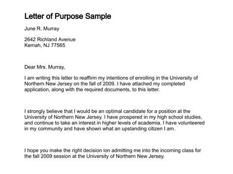 application letter purpose