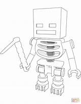 Coloring Skeleton Minecraft Pages Hoe Printable Drawing Dot sketch template