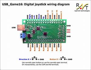 Usb Game16  Joystick Controller