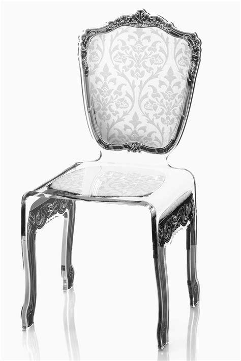 chaises en plexiglas chaise baroque plexiglas motif blanc acrila spécialiste