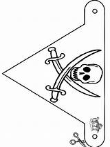 Pirate Flag Coloring Pages Pirates Cut Flags Crafts Halloween Funnycoloring Printable Template Sheet Piraat Knutselen Own Visit Freecoloringpages Larger Credit sketch template