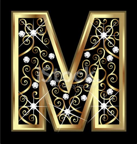 wood christmas patterns outdoor gold letter m with swirly ornaments stock photos