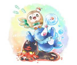 Rowlet Sun and Moon Pokemon Starters