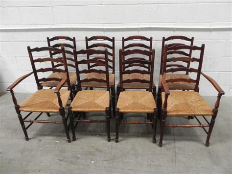 8 country ladder back seat chairs antiques atlas