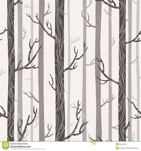 seamless texture  trees stock vector image