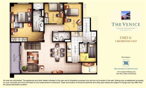 1 Bedroom Unit Rental by Venice Mckinley Hill Fort Bonifacio Condo By Megaworld Corp