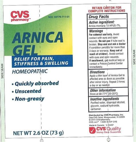 Cvs Pharmacy Apply by Arnica Cvs Pharmacy Package Insert