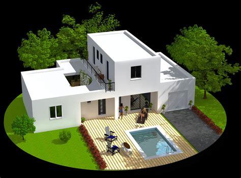 plan plain pied 4 chambres maison archi constructeur