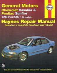 Chevy Cavalier Pontiac Sunfire Haynes
