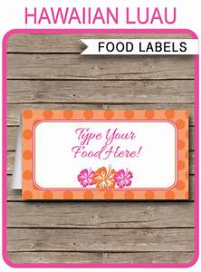 Circus Party Invitations Free Templates Hawaiian Luau Party Food Labels Place Cards Hawaiian