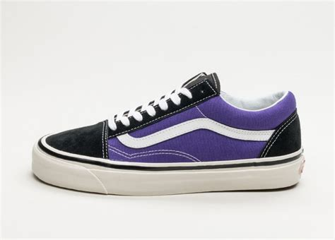 vans  skool  dx anaheim factory black bright purple asphaltgold