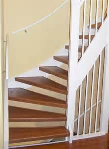 offene treppe verkleiden beispiele renovierter treppen