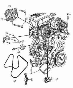 2009 Dodge Ram 1500 Bracket  Idler Pulley   Heater